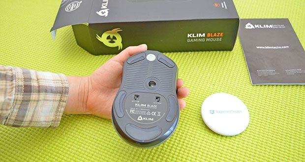 KLIM Blaze kabellose RGB Gaming Maus im Test - verfügt über einen Akku mit hoher Kapazität