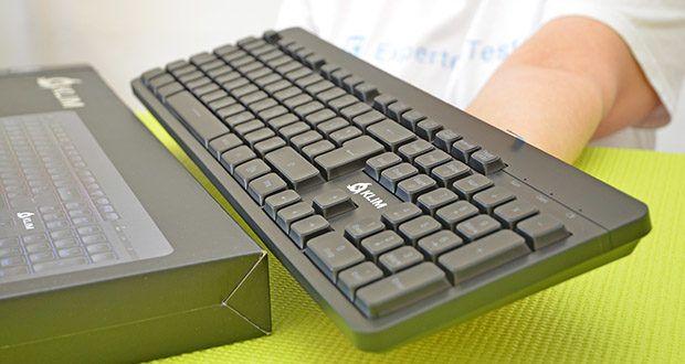 KLIM Light V2 Gaming Tastatur im Test - Reaktionszeit: 8 ms; Reichweite: bis zu 10 Meter