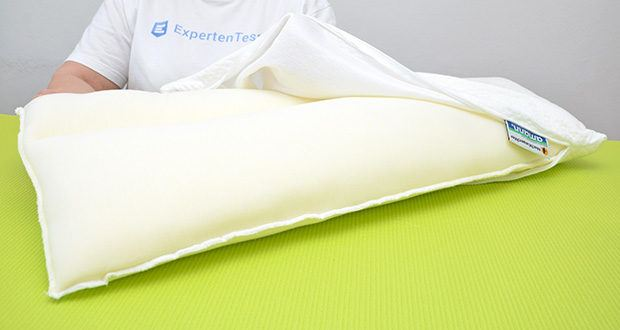 Nachtwaechter Nacken Komfort Kissen NEA im Test - hochqualitativer Tencel Bezug