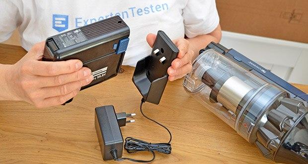 Proscenic Akku Handstaubsauger P10 Pro im Test - die abnehmbare Bauweise des Akkus ermöglicht die Verlängerung der Betriebsdauer mit einem Ersatzakku