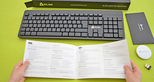 KLIM Light V2 Gaming Tastatur im Test - der Energiesparmodus schaltet die Hintergrundbeleuchtung nach 2 Minuten Ruhezeit vorübergehend aus