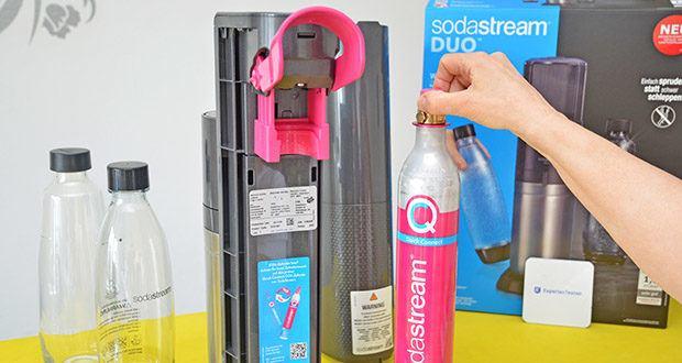 SodaStream Wassersprudler DUO im Test - mit dem revolutionären Quick-Connect CO2-Zylindersystem