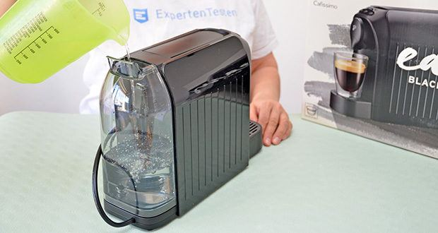 Tchibo Kapselmaschine Cafissimo Easy im Test - Programmierbare Getränkemenge: 30 – 250 ml; Kapazität Wassertank: 650 ml