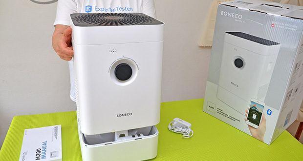 BONECO Hybrid Luftbefeuchter & Luftreiniger H300 im Test - komfortable Bedienung, hohe Leistungsfähigkeit und einfache Reinigung