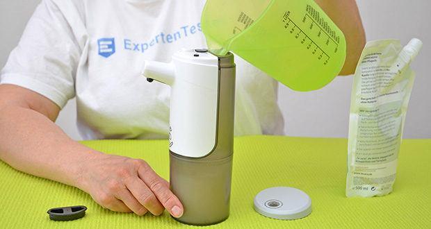 Farsaw Automatischer Seifenspender im Test - das Verdünnungsverhältnis beträgt 1: 3 oder 1: 4
