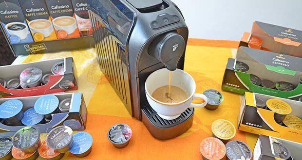Tchibo Cafissimo Kapselkoffer Spesial Collection im Test - dank des patentierten Drei-Druck-Brühsystems bereitet Ihre Cafissimo Kapselmaschine jede Kaffeespezialität mit optimalem Brühdruck zu