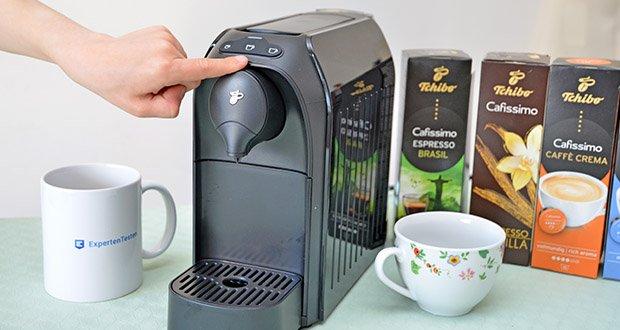 Tchibo Kapselmaschine Cafissimo Easy im Test - Direktwahltasten Zubereitung: Espresso, Caffè Crema, Kaffee