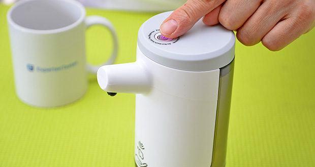 Farsaw Automatischer Seifenspender im Test - es wird weniger Seife verbraucht als mit einem Seifenspender zum Drücken