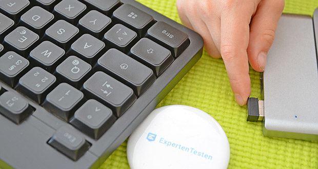 KLIM Light V2 Gaming Tastatur im Test - verfügt über einen langlebigen eingebauten Akku
