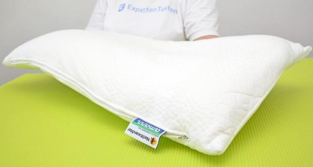 Nachtwaechter Nacken Komfort Kissen NEA im Test - speziell entwickelte ergonomisch optimierte, orthopädische Form