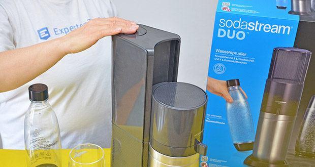 SodaStream Wassersprudler DUO im Test - die Sprudelstärke ist individuell dosierbar
