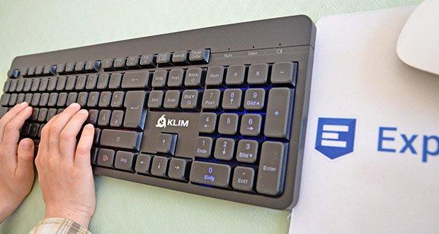 KLIM Light V2 Gaming Tastatur im Test - wurde entwickelt, um so leise wie möglich zu sein