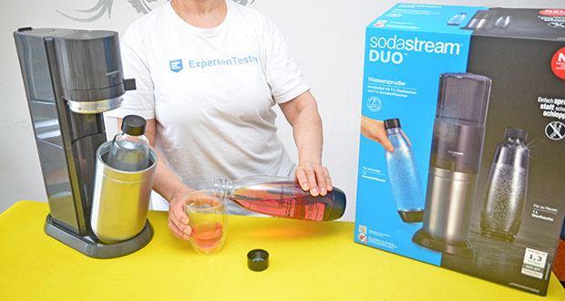 SodaStream Wassersprudler DUO im Test - frisch gesprudelte Getränke ganz einfach zuhause oder unterwegs genießen
