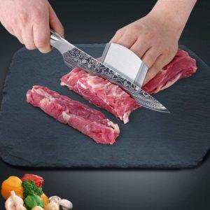 Die unterschiedlichen Fleischmessertypen sind für verschiedene Zubereitungsvarianten vorgesehen.