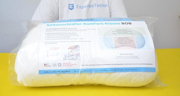 Nachtwaechter Komfort-Seitenschläfer-Kissen BOB im Test - developed in Germany, Made in Germany