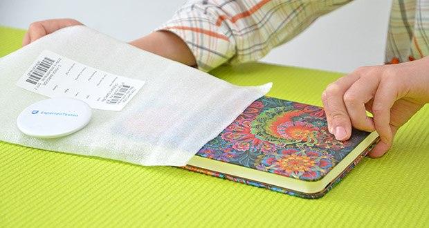 Paperblanks Olenas Garten Mondlicht Notizbuch im Test - Produktabmessungen19.3 x 2.9 x 15.4 cm; Gewicht: 225 Gramm