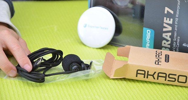 AKASO externes Mikrofon für Action Cam im Test - externes Mikrofon für V50 Pro, V50 Pro SE, V50 Pro Endless Summer & V50X, und Brave 6 Plus