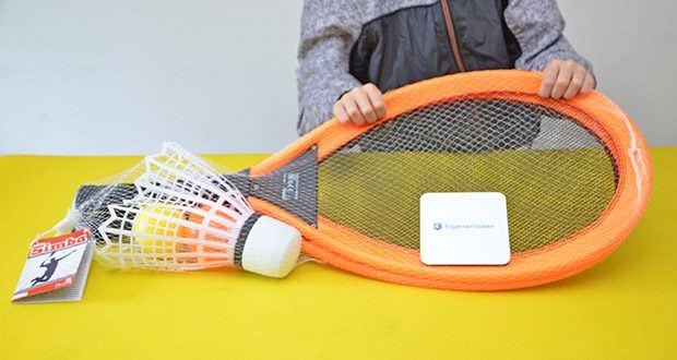Simba Giant Badminton Set im Test - Produktabmessungen 6.5 x 29.5 x 66.5 cm; Gewicht: 339 Gramm