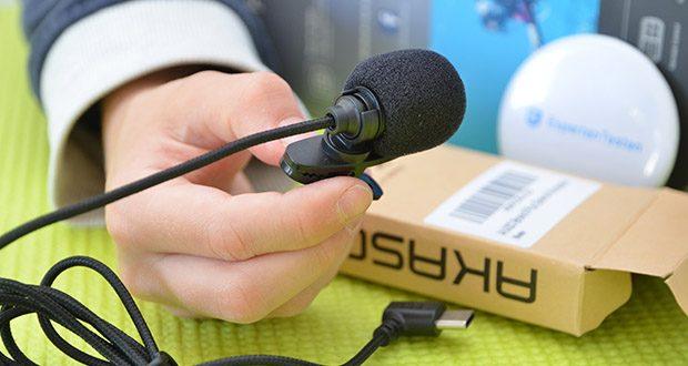 AKASO externes Mikrofon für Action Cam im Test - perfekt für Feldinterviews, Reisen, Wandern und mehr