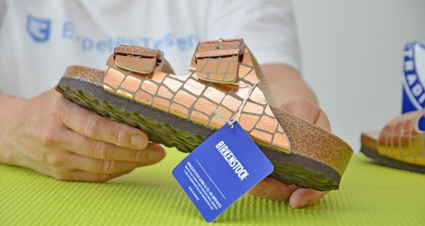 Birkenstock Arizona Gator Gleam Copper Sandalen im Test - Verschluss: Schnalle
