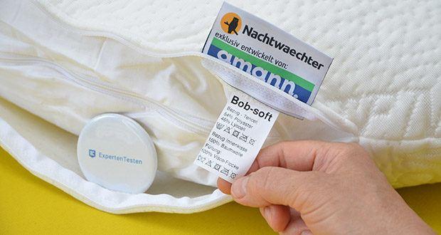 Nachtwaechter Komfort-Seitenschläfer-Kissen BOB im Test - Bezug waschbar bis 60°