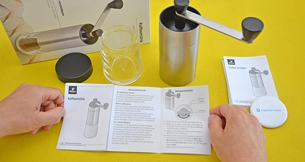 Tchibo Handmühle im Test - durch das Mahlen per Hand ist eine Einstellung des Mahlgrads ganz individuell auf Ihren persönlichen Geschmack möglich