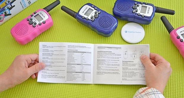 Retevis RT388 Walkie Talkie im Test - wenn die Frequenz und die Sub-Audio-Frequenz der Walkie Talkies gleich sind können die Walkie-Talkies miteinander sprechen