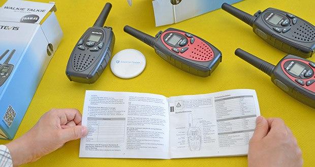 Retevis RT628 Kinder Walkie Talkie im Test - die sprachaktivierte Übertragung erfolgt ohne Drücken der PTT-Taste, wenn die VOX-Funktion aktiviert ist