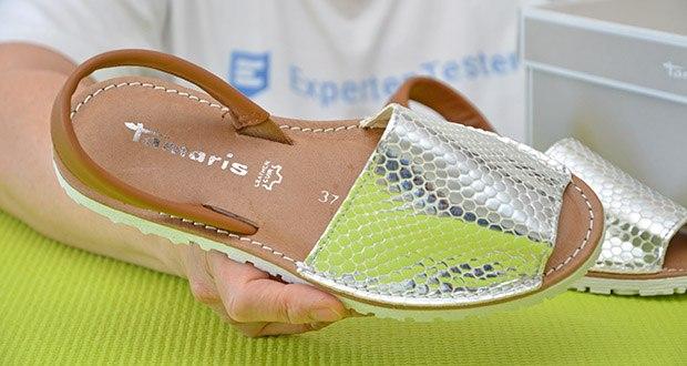 Tamaris Damen Slingback Sandalen im Test - inner Material: Ohne Futter