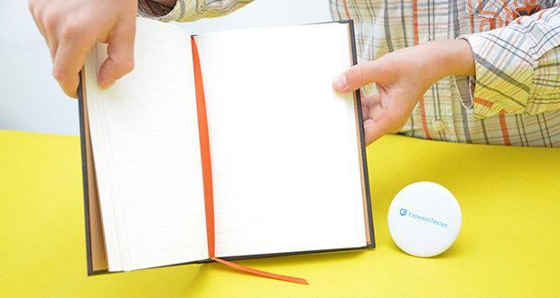 Paperblanks Faux Leder Notizbuch im Test - authentisches geripptes Papier in einer für das Auge angenehmen Cremefarbe