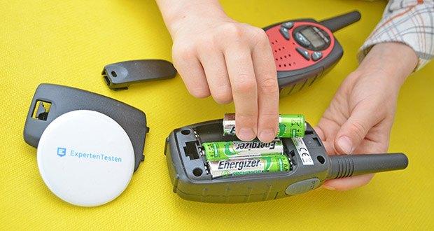 Retevis RT628 Kinder Walkie Talkie im Test - jedes Walkie Talkie benötigt 3 AA Batterien (nicht im Lieferung)