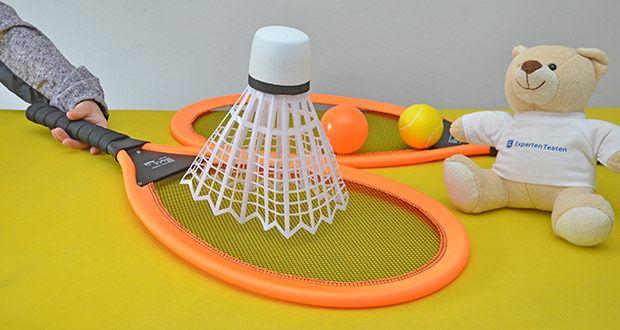 Simba Giant Badminton Set im Test - ob im Garten, im Park, am Strand oder in der Halle, mit dem Giant Badminton Set seid ihr überall bestens für eure Badminton Turniere ausgestattet