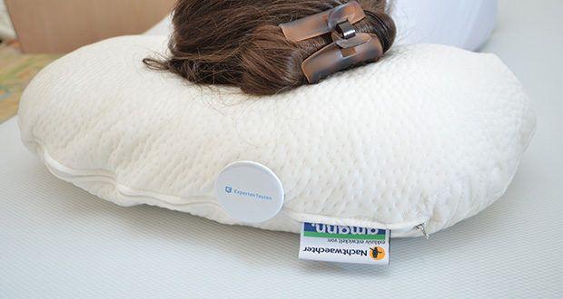 Nachtwaechter Komfort-Seitenschläfer-Kissen BOB im Test - ein qualitativ überragendes, individuell in der Höhe und Härte verstellbares Seitenschläfer-Komfort-Kissen