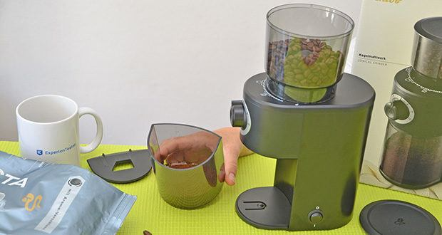 Tchibo Elektrische Kaffeemühle Einsteigermodell im Test - mit dieser Mühle finden Sie ganz einfach den idealen Mahlgrad für jede Zubereitungsart