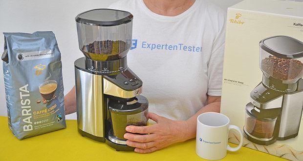 Elektrische Kaffeemühle mit Edelstahlgehäuse im Test - mit dieser Mühle können Sie für jede Art der Zubereitung den idealen Mahlgrad wählen