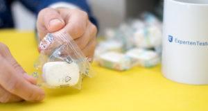 Welche Arten von Geschirrspültabs gibt es in einem Test?