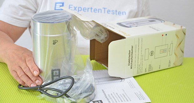 Tchibo Elektrischer Milchaufschäumer Edelstahl im Test - Leistung: 450-550 Watt