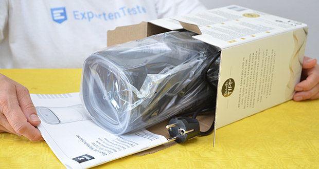 Tchibo Elektrischer Milchaufschäumer schwarz im Test - Maße: B x H x T ca. 10,5 x 20 x 11,5 cm