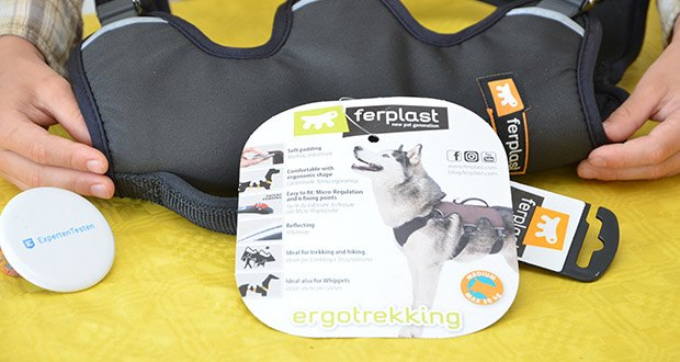 Ferplast Geschirr für Hunde Ergotrekking P im Test - hergestellt aus robustem Nylon und weich gepolstert, stört es nicht und scheuert nicht