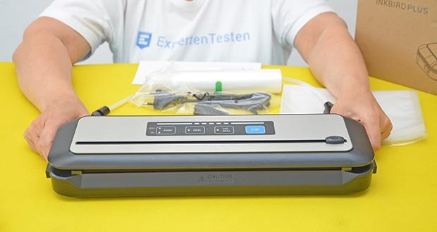 Inkbird Vakuumiergerät INK-VS01 im Test - Zubehör: 1 Schlauch für Vakuumbehälter, 5 Vakuumbeutel, 1 Vakuumrolle (geeignet für Breite von 30 cm)