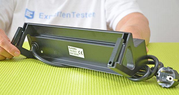 Elbe Inno klemmbare Tischsteckdose im Test - mit einem besonders dicken Kabel ausgestattet (1,50 mm); Länge des Kabels: 1.5 m
