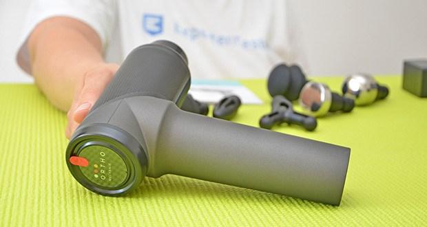 Orthomechanik OrthoGun 2.0 Massagepistole im Test - eine der leichtesten Massagepistolen auf dem Markt - 828g Leichtgewicht