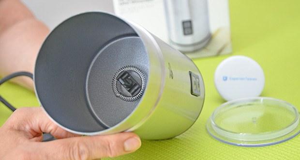 Tchibo Elektrischer Milchaufschäumer Edelstahl im Test - aus rostfreiem Edelstahl mit antihaftbeschichteter Innenseite für leichtes Reinigen