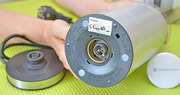 Tchibo Elektrischer Milchaufschäumer Edelstahl im Test - herausnehmbarer Rühreinsatz