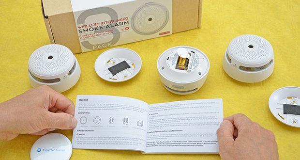 X-Sense Mini Funkvernetzbarer Rauchmelder 3-Pack im Test - ermöglicht störende Alarme, die durch Küchendämpfe, Rauchen usw. verursacht werden, über die App vorübergehend auszuschalten