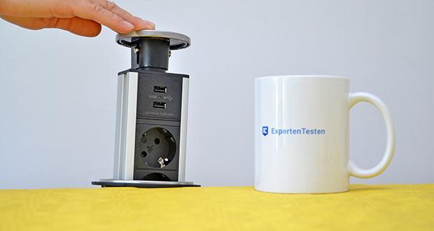 Elbe Inno versenkbare Tischsteckdosenleiste im Test - langlebig und schön