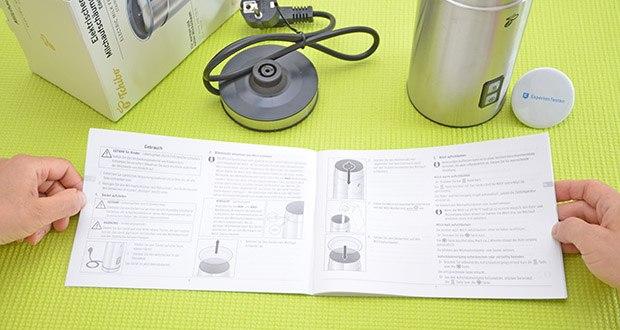 Tchibo Elektrischer Milchaufschäumer Edelstahl im Test - Überhitzungsschutz und Abschaltautomatik