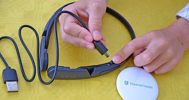 Mu6 Ring Open Ear Kabellose Kopfhörer im Test - Anschluss zum Laden: Micro-USB