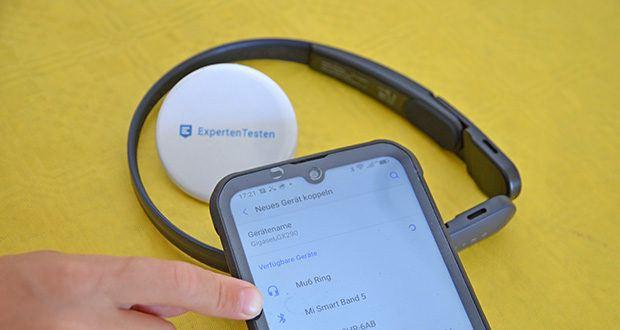 Mu6 Ring Open Ear Kabellose Kopfhörer im Test - sehr einfach mit jedem Gerät zu verbinden