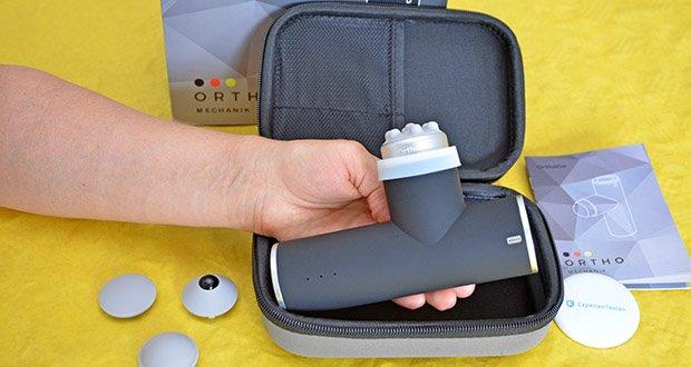 Orthomechanik OM-Go Massagepistole Mini im Test - garantiert dir Entspannung für Muskeln und Ohren